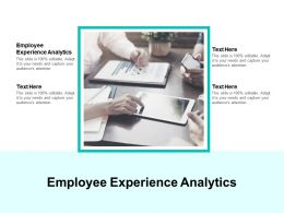 Employee Experience Analytics Ppt Powerpoint Presentation Layouts Themes Cpb