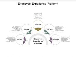 Employee Experience Platform Ppt Powerpoint Presentation Ideas Demonstration Cpb