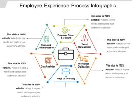 Employee Experience Process Infographic Ppt Samples