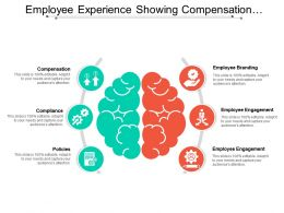 Employee Experience Showing Compensation Compliance And Employee Branding