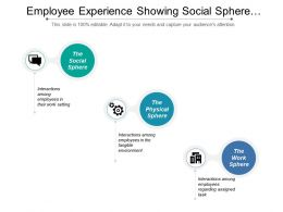 Employee Experience Showing Social Sphere And Work Sphere