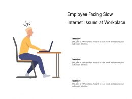 Employee Facing Slow Internet Issues At Workplace