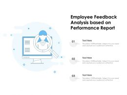 Employee Feedback Analysis Based On Performance Report