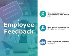 Employee Feedback Ppt Show Graphics Template
