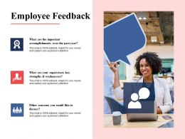 Employee Feedback Strengths Ppt Powerpoint Presentation File Example File