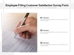 Employee Filling Customer Satisfaction Survey Form