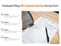Employee Filling HR Customer Service Survey Form