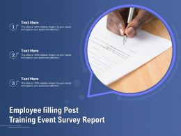 Employee Filling Post Training Event Survey Report