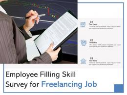 Employee Filling Skill Survey For Freelancing Job