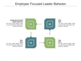 Employee Focused Leader Behavior Ppt Powerpoint Presentation Infographic Cpb
