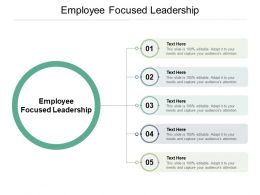 Employee Focused Leadership Ppt Powerpoint Presentation Images Cpb