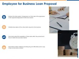 Employee For Business Loan Proposal Ppt Powerpoint Presentation Visual Aids Portfolio