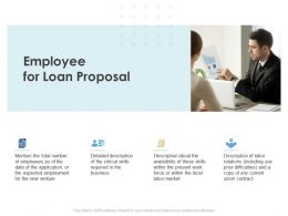 Employee For Loan Proposal Ppt Powerpoint Presentation Infographic