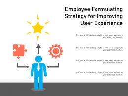 Employee Formulating Strategy For Improving User Experience