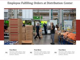 Employee Fulfilling Orders At Distribution Center