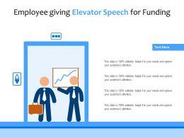 Employee Giving Elevator Speech For Funding