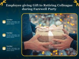 Employee Giving Gift To Retiring Colleague During Farewell Party