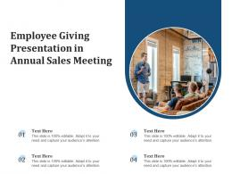 Employee Giving Presentation In Annual Sales Meeting