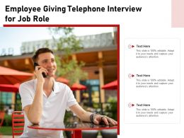 Employee Giving Telephone Interview For Job Role
