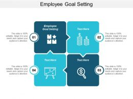 Employee Goal Setting Ppt Powerpoint Presentation Professional Brochure Cpb