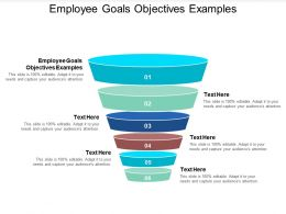 Employee Goals Objectives Examples Ppt Powerpoint Presentation Visual Aids Files Cpb