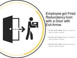 Employee Got Fired Redundancy Icon With A Door With Exit Arrow