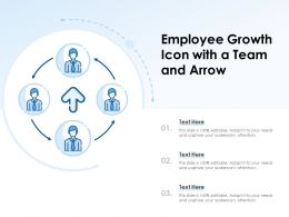 Employee Growth Icon With A Team And Arrow