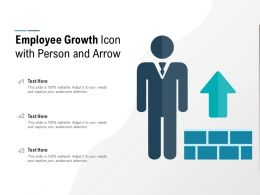 Employee Growth Icon With Person And Arrow