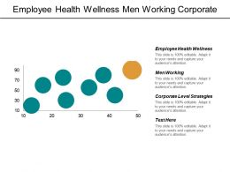 Employee Health Wellness Men Working Corporate Level Strategies Clusters Management Cpb