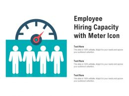 Employee Hiring Capacity With Meter Icon