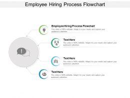 Employee Hiring Process Flowchart Ppt Powerpoint Presentation Portrait Cpb