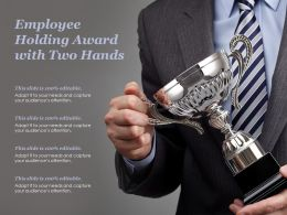 Employee Holding Award With Two Hands