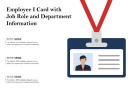 Employee I Card With Job Role And Department Information