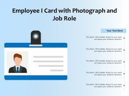 Employee I Card With Photograph And Job Role
