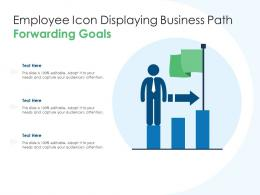 Employee Icon Displaying Business Path Forwarding Goals