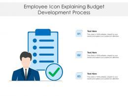 Employee Icon Explaining Budget Development Process