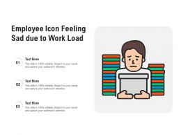 Employee Icon Feeling Sad Due To Work Load