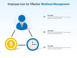 Employee Icon For Effective Workload Management