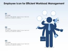 Employee Icon For Efficient Workload Management