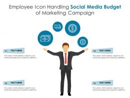 Employee Icon Handling Social Media Budget Of Marketing Campaign