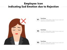 Employee Icon Indicating Sad Emotion Due To Rejection
