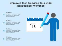 employee icon preparing task order management worksheet