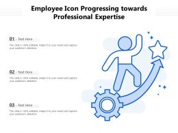 Employee Icon Progressing Towards Professional Expertise
