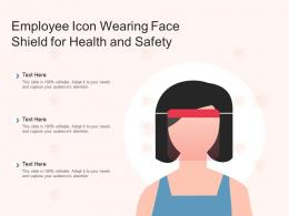 Employee Icon Wearing Face Shield For Health And Safety