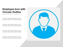 Employee Icon With Circular Outline