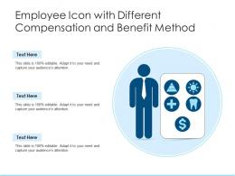 Employee Icon With Different Compensation And Benefit Method