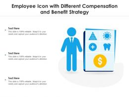 Employee Icon With Different Compensation And Benefit Strategy