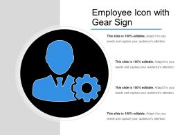Employee Icon With Gear Sign