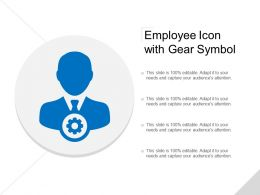 Employee Icon With Gear Symbol