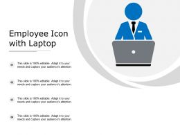 Employee Icon With Laptop